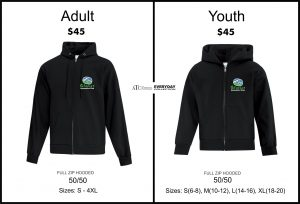 Zip Hoodie - Youth or Adult